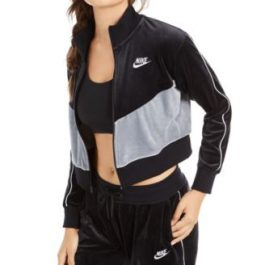 Poleron Nike Negro/Gris