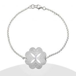 Pulsera flor con diseño